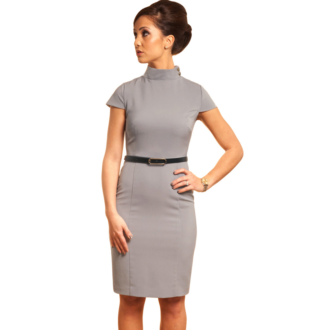 Brilliant  Women Vintage Dress Cocktail Dress For Office Work Ladies Clothing 40
